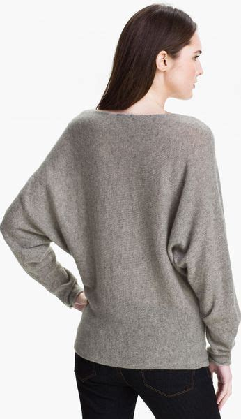 Only Mine Dolman Sleeve Cashmere Sweater in Gray (heather