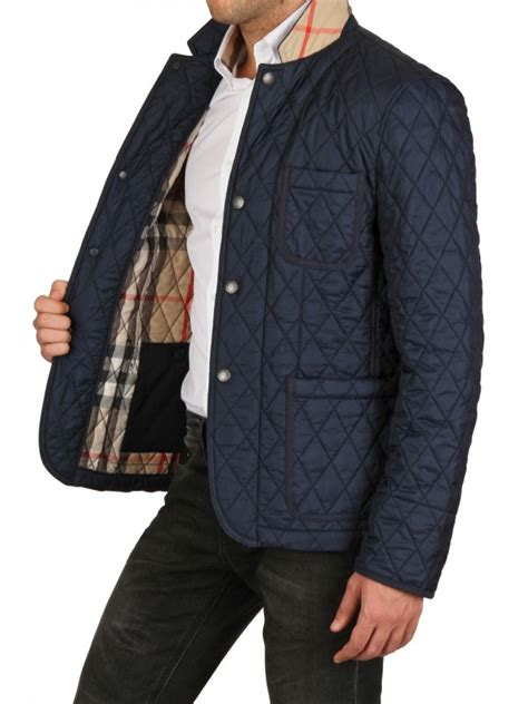 Lyst - Burberry Brit Quilted Jacket in Blue for Men