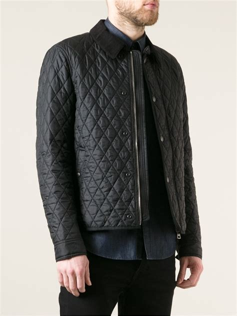 Burberry Brit Quilted Jacket in Black for Men - Lyst