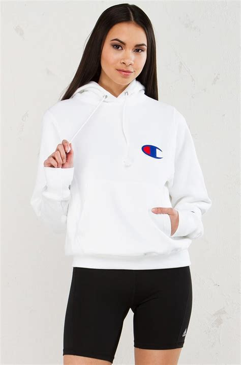 Champion Cotton Reverse Weave Pullover Hoodie in White - Lyst