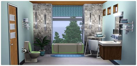 Mid-Century Modern Bathroom Collection - Store - The Sims™ 3