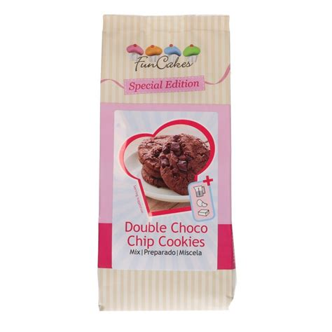 Backmischung Double Choco Chip Cookies FunCakes 400g