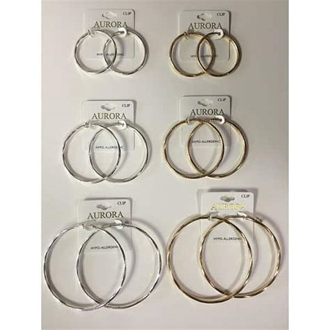 Hoop Clip-on Earrings Saver Pack - Glamour Boutique