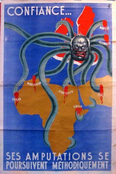 Churchill as the head of the British octopus in a piece of