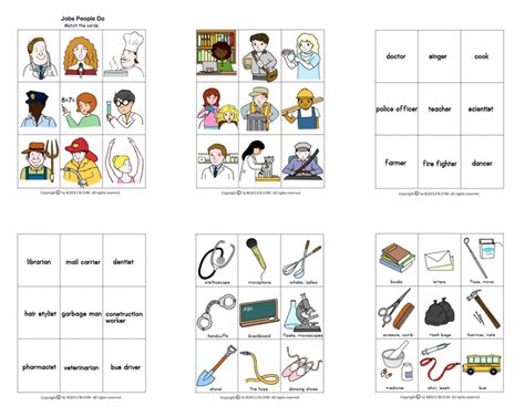 Here's a set of picture cards on jobs people do