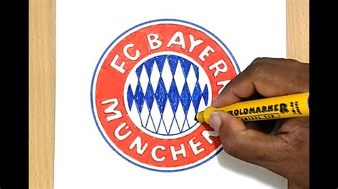 How to Draw the FC Bayern München Logo - YouTube