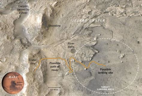 NASA's Perseverance Rover Team Names Geological Features