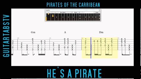 He's A Pirate Acoustic Guitar Pro Free TABS + PDF Pirates